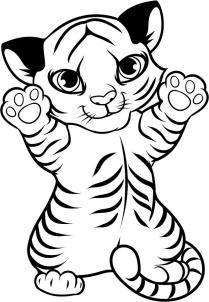 209x302 Cartoon Baby Animals Image 3282598 Walking Baby Tiger