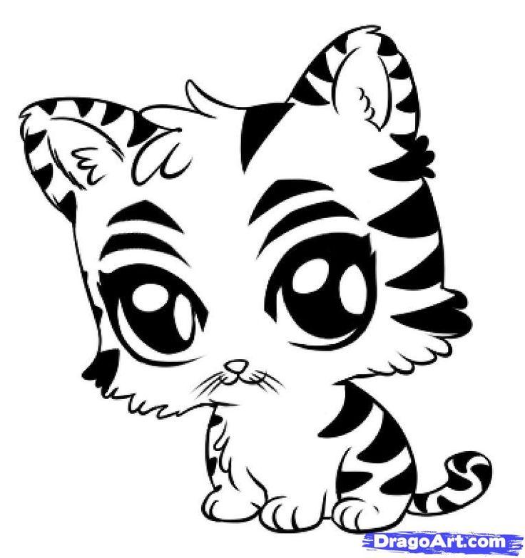 736x783 Cool Cartoon Animal Drawings Best 25 Easy Tiger Drawing Ideas