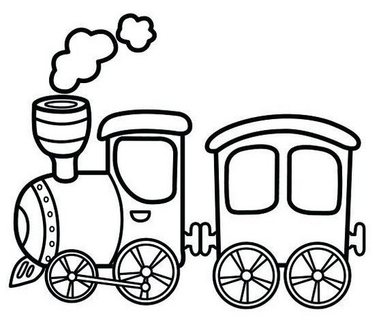 Cartoon Train Drawing