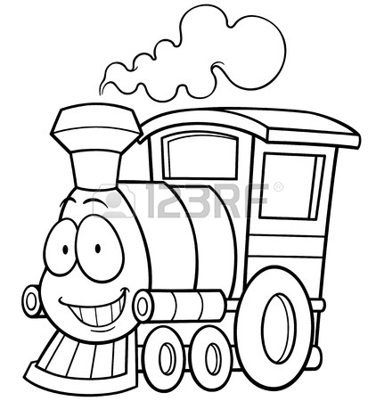422x450 Vector Illustration Of Cartoon Train