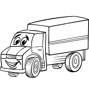 Cartoon Truck Drawing