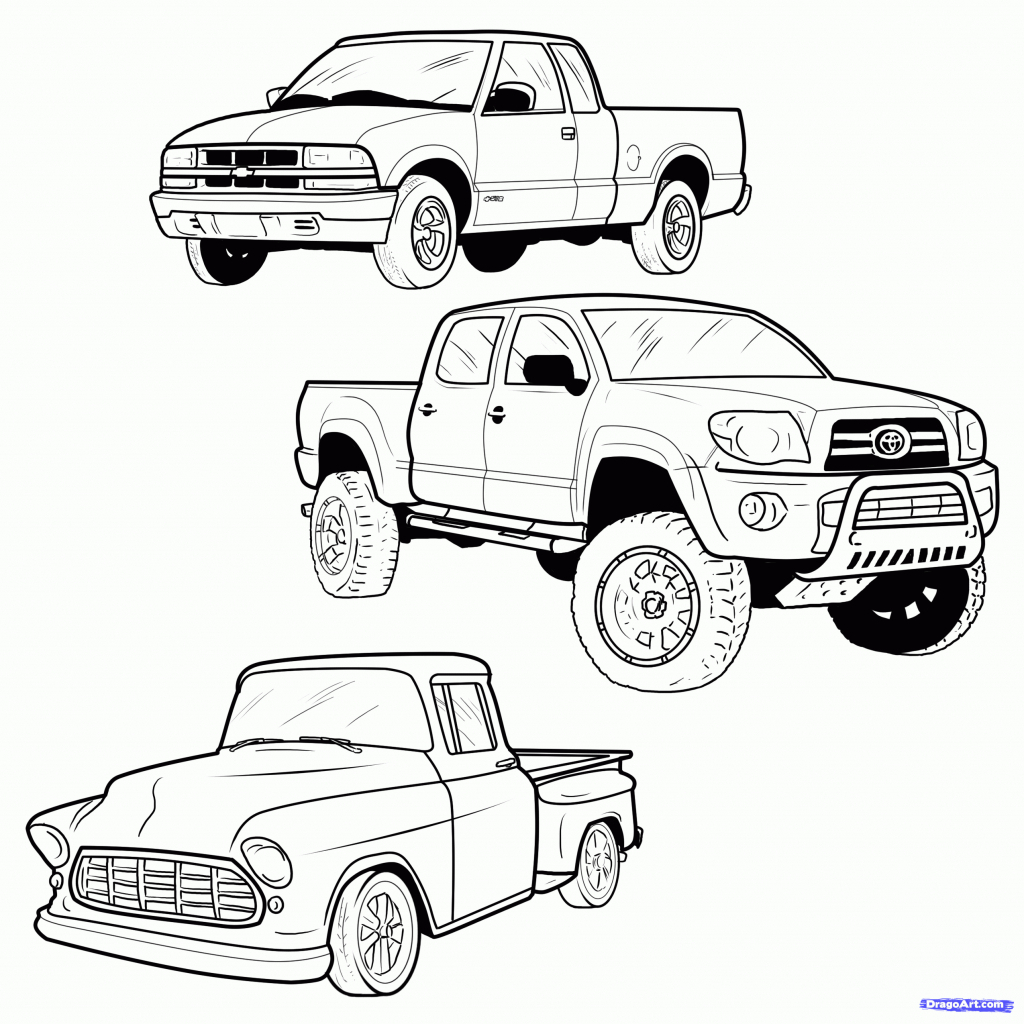 1024x1024 Cartoon Truck Drawings