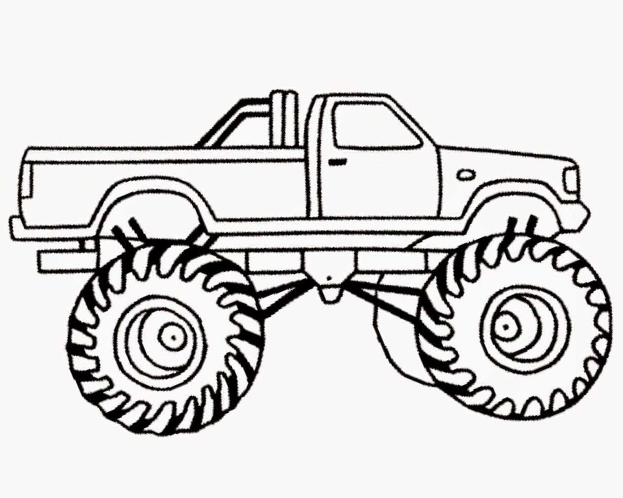 1264x1011 Clipart Bigfoot Monster Truck Cartoon Collection S And Mr Coloring