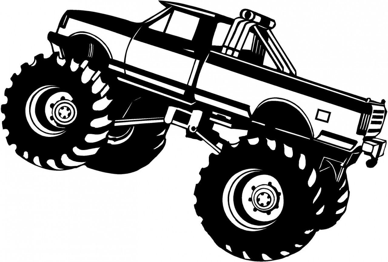 1280x863 Coloring Pages Monster Truck Drawings Coloring Pages Monster