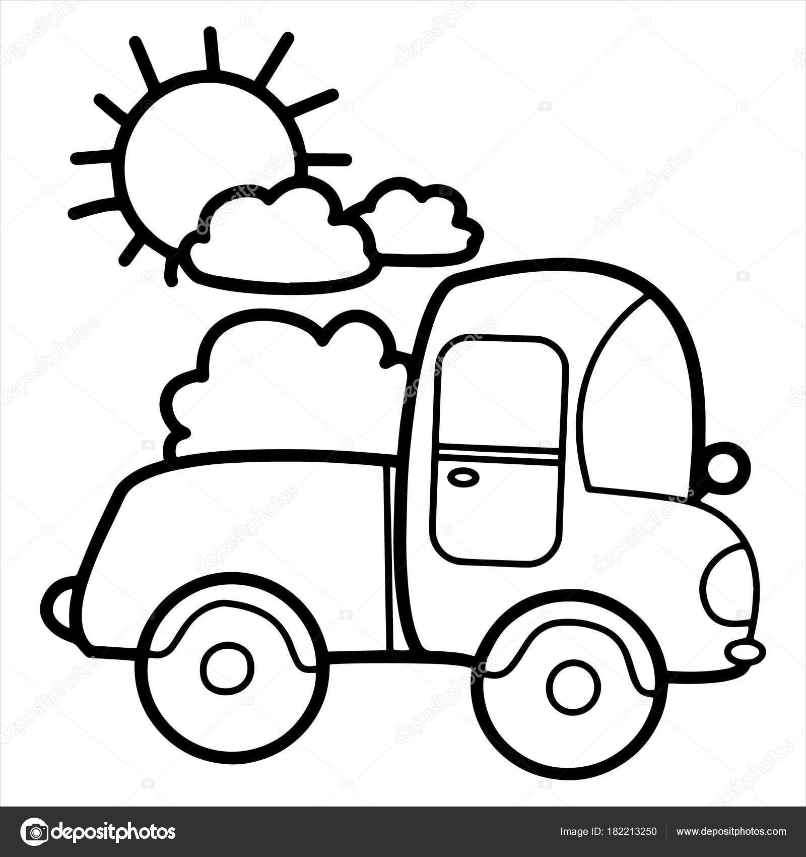 1600x1700 Cute Cartoon Truck White Background Childrens Prints Shirt Color