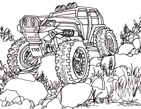 570x440 Traxxas Summit Trail Truck Drawing Truck 4x4 Rc Crawler
