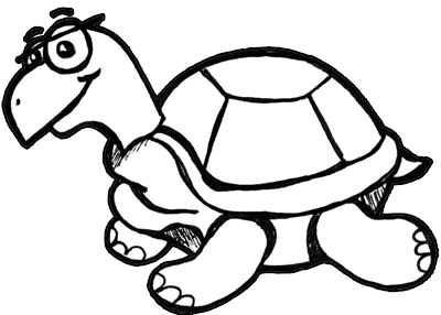 400x286 Finished Drawing Of Cartoon Turtles