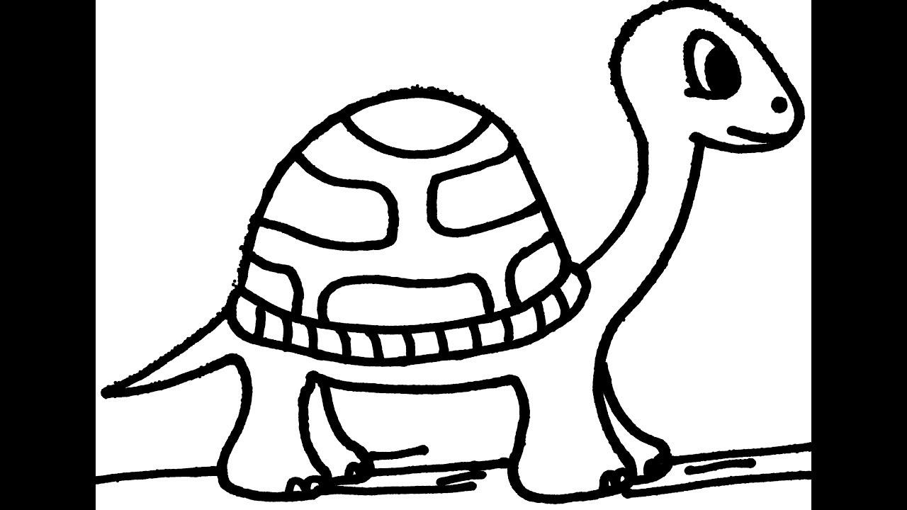 1280x720 How To Draw A Cartoon Turtle