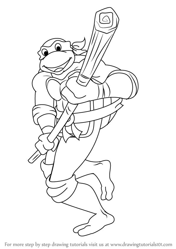 598x844 Learn How To Draw Donatello From Teenage Mutant Ninja Turtles