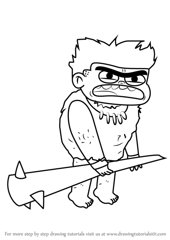 567x800 Learn How To Draw Caveman Jesse From Looped (Looped) Step By Step