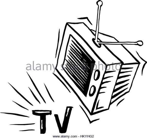 573x540 Old Tv Drawing Isolated Icon Stock Photos Amp Old Tv Drawing