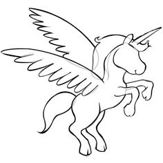 236x236 Paper Time Step By Step Instructions To Draw Unicorns With Wings