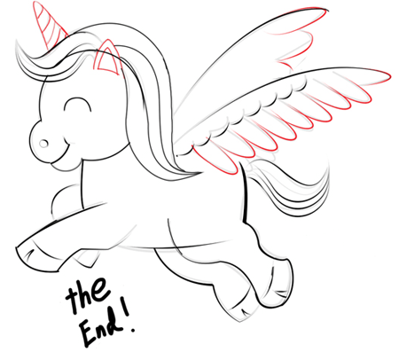 450x397 Step 6 Drawing Unicorns In Easy Steps Tutorials How To Draw
