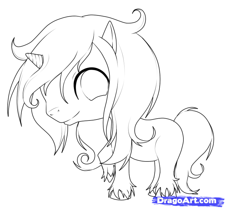 730x675 How To Draw An Easy Unicorn Step 9 Drawing Stuff
