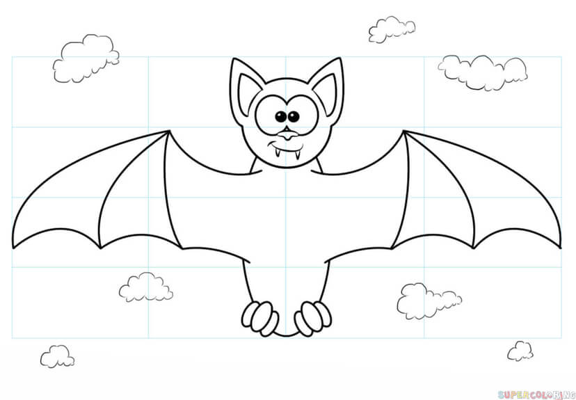 828x575 How To Draw A Vampire Bat Step By Step Drawing Tutorials