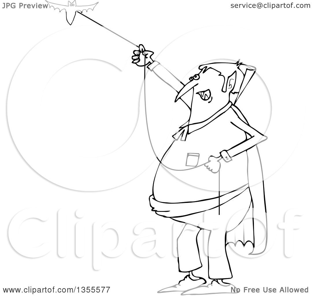 1080x1024 Outline Clipart Of A Cartoon Black And White Chubby Dracula