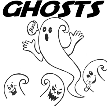350x350 How To Draw Ghosts With Easy Step By Step Drawing Lesson