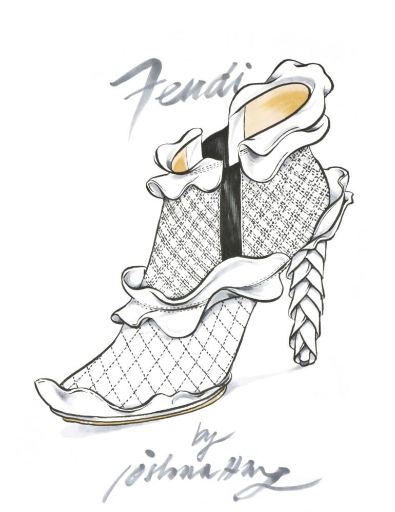 770x996 Saatchi Art Sp3704 Wave Fendi Drawing By Joshua Wong