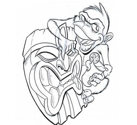 478x437 Tiki Drawings