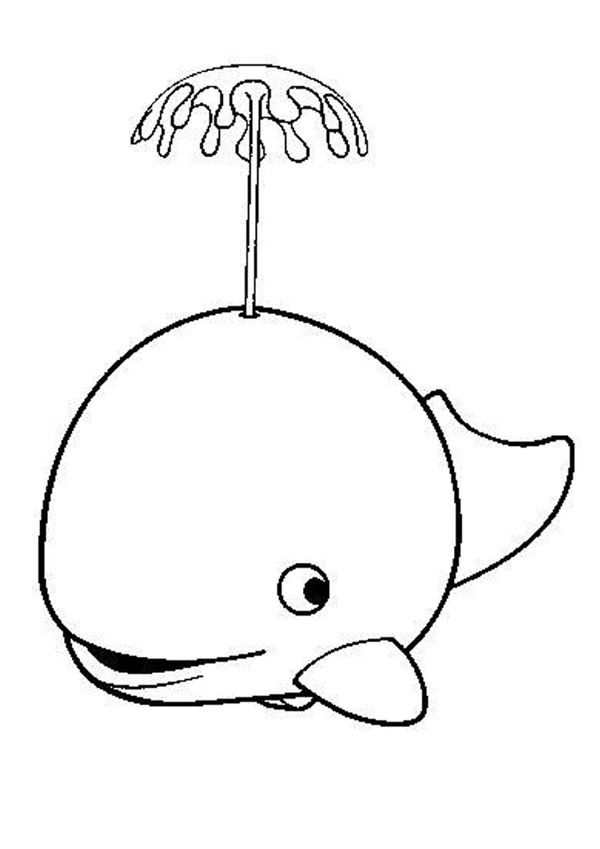 600x849 Cute Whale Coloring Page. Nice Coloring Sheet Of Sea World. More