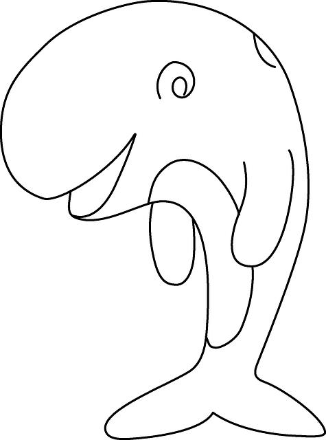 475x640 Sketch, Happy, Whale, Comic, Smile, Cartoon, Fish