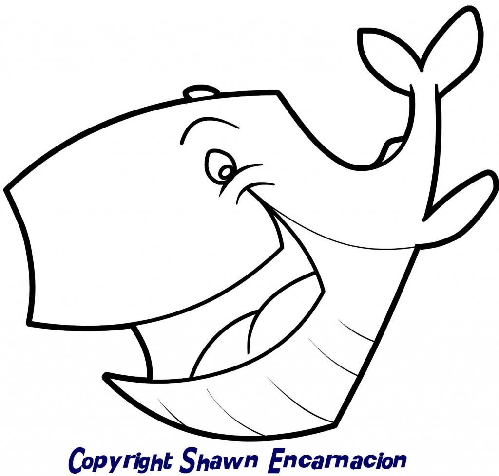 1024x978 Cartoon Drawing Whale Cartoon Whale Drawing