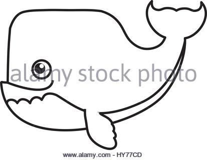 413x320 Whale Cartoon Drawing Animal Stock Vector Art Amp Illustration