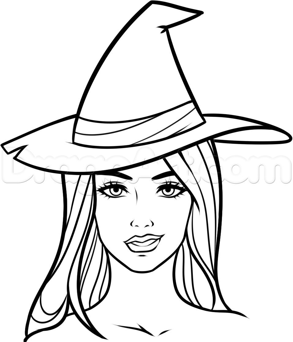 957x1118 How To Draw A Witch Face, Step By Step, Witches, Monsters, Free