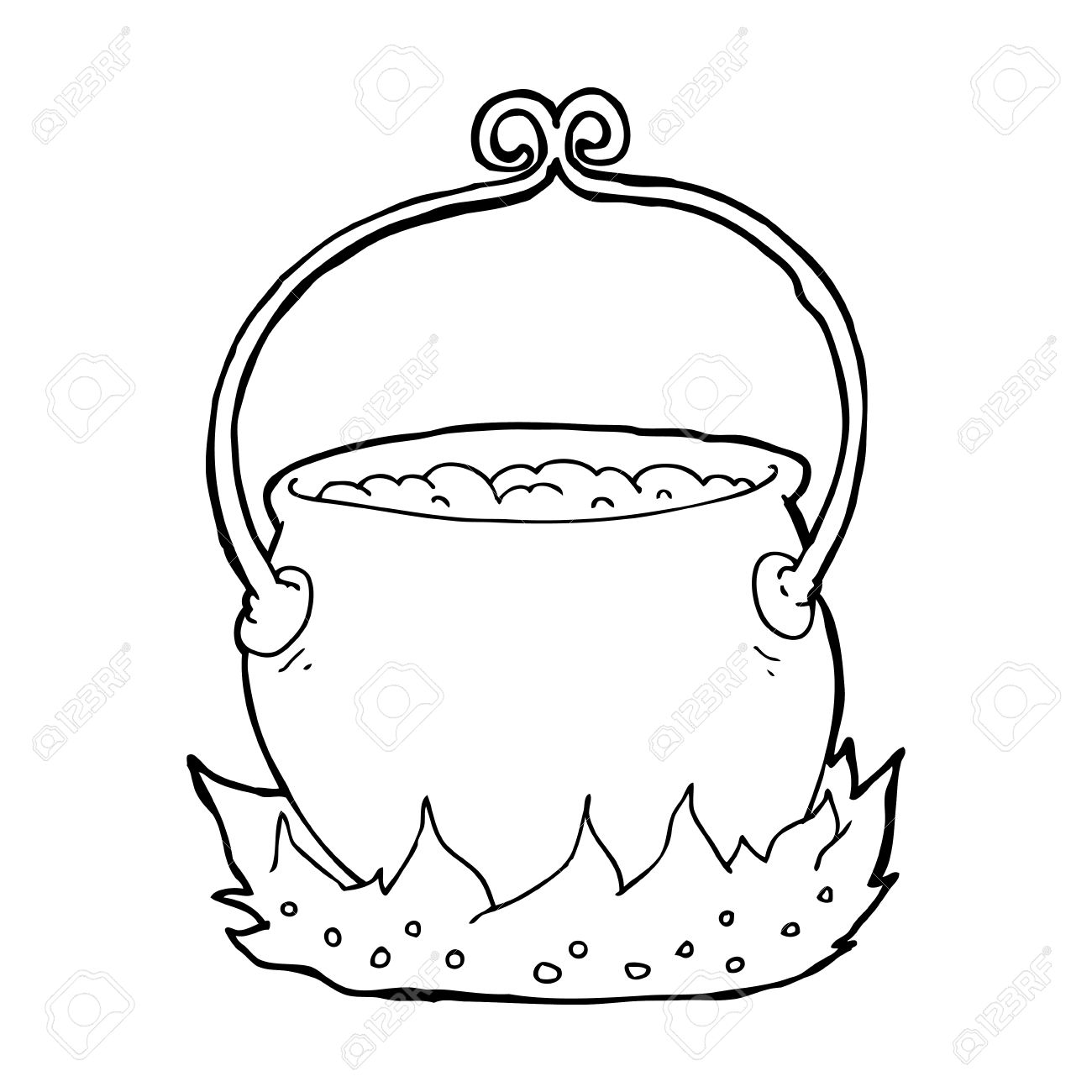 1300x1300 Cartoon Witch's Cauldron Clipart Station