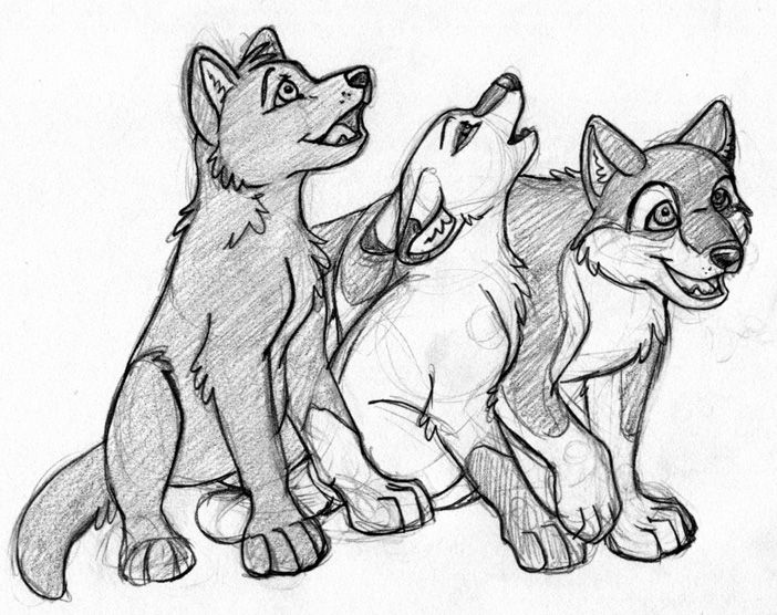 702x556 Coloring Pages Lovely How To Draw Wolf Pups Pup Lineart By