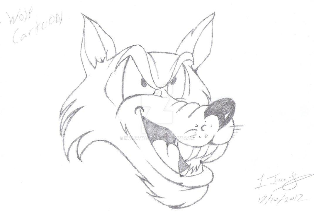 1071x745 Cartoon Wolf By Morgoth390