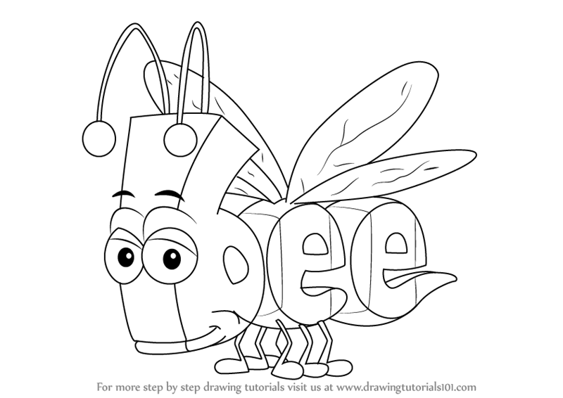 800x566 Learn How To Draw Bee From Wordworld (Wordworld) Step By Step