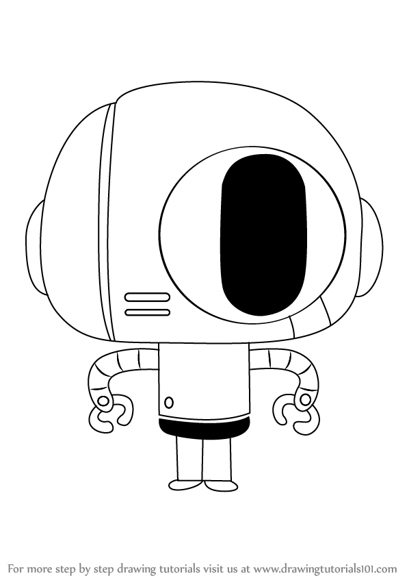 598x844 Learn How To Draw Bobert From The Amazing World Of Gumball (The