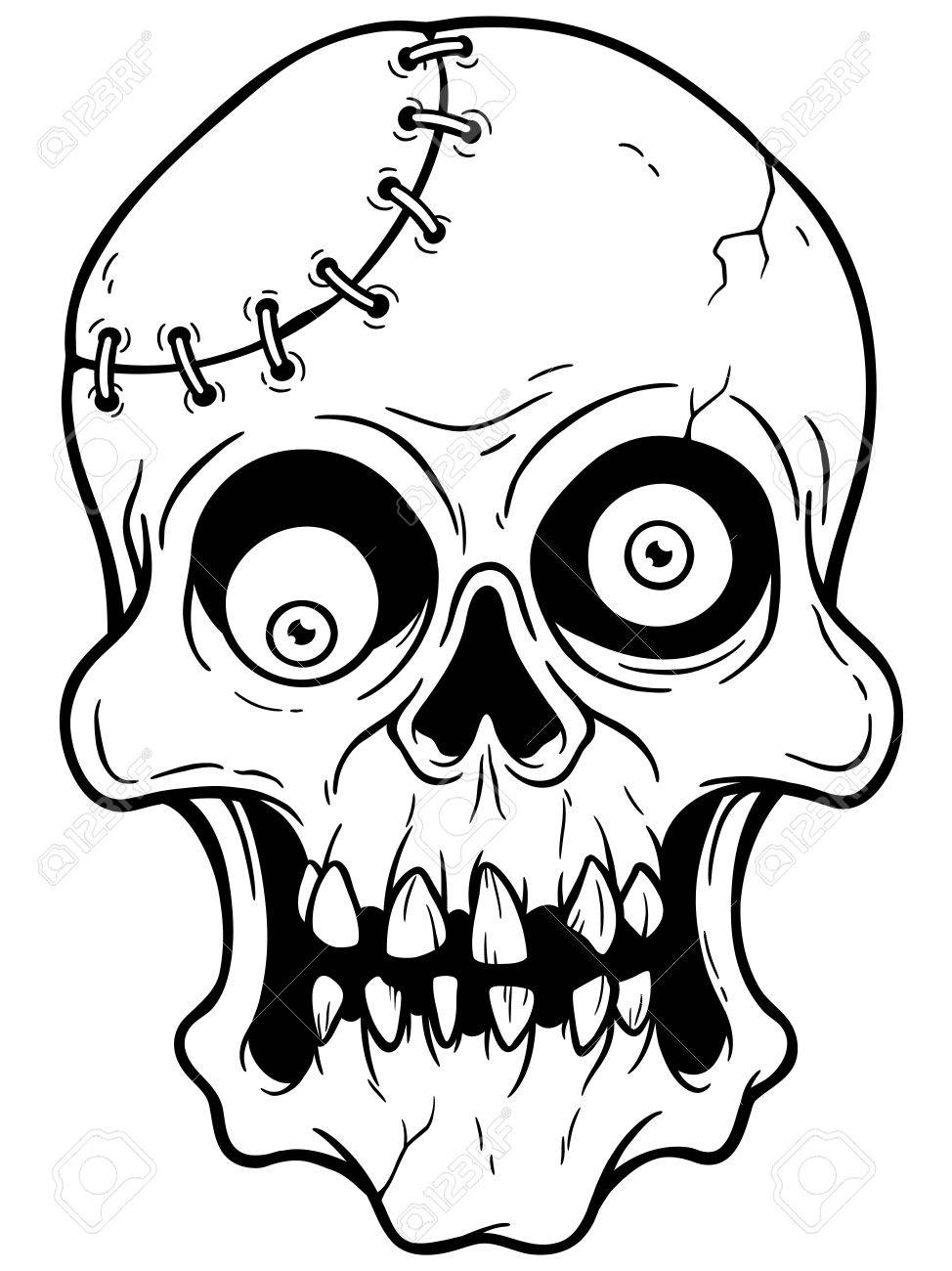 974x1300 Vector Illustration Of Cartoon Zombie Face Royalty Free Cliparts