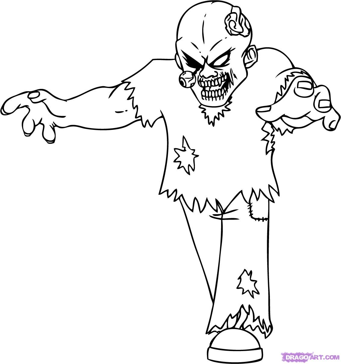 1132x1208 Zombie Drawings Step By Step How To Draw A Cartoon Zombie