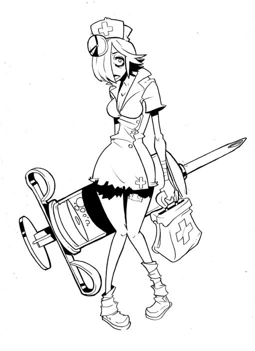 510x701 Zombie Nurse By Lysol Jones
