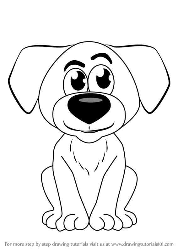 567x800 Learn How To Draw Cartoon Doggie (Cartoons For Kids) Step By Step