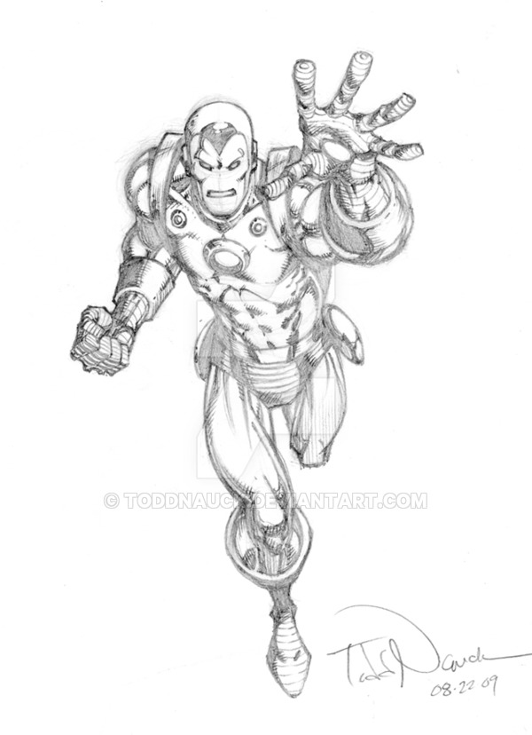 600x828 Iron Man Pencil Sketch By Toddnauck