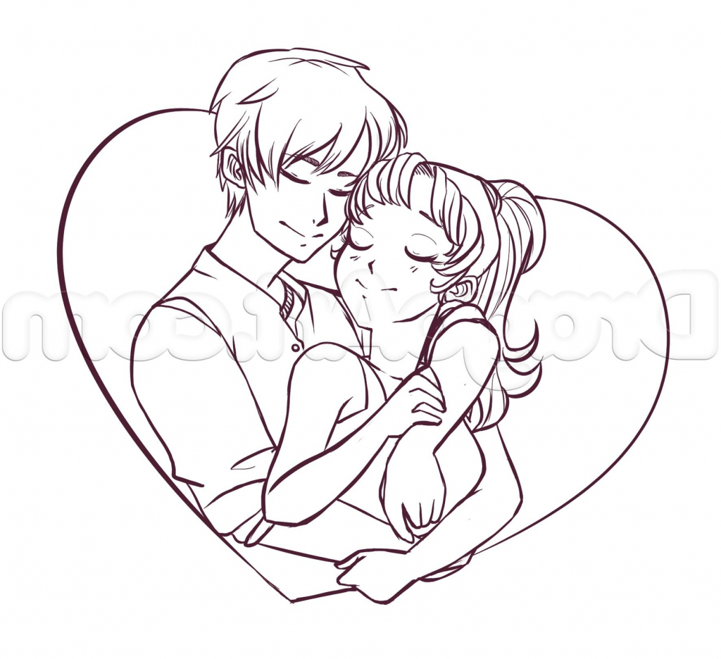 1024x936 Pencil Drawings In Hd Couple Japan Cartoon Pencil Drawing Images