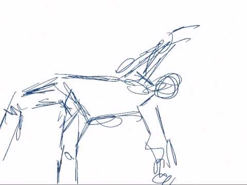 480x360 Cartwheel Kick Animation