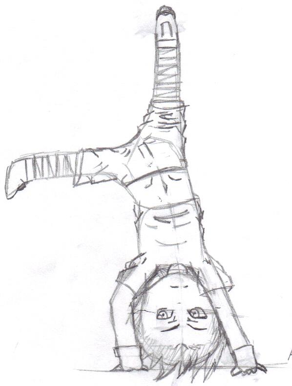 598x790 Chibi Akane Cartwheel Sketch By Ixi Chibicharms Ixi