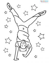 200x258 Children Doing Cartwheels Coloring Pages Lovetoknow