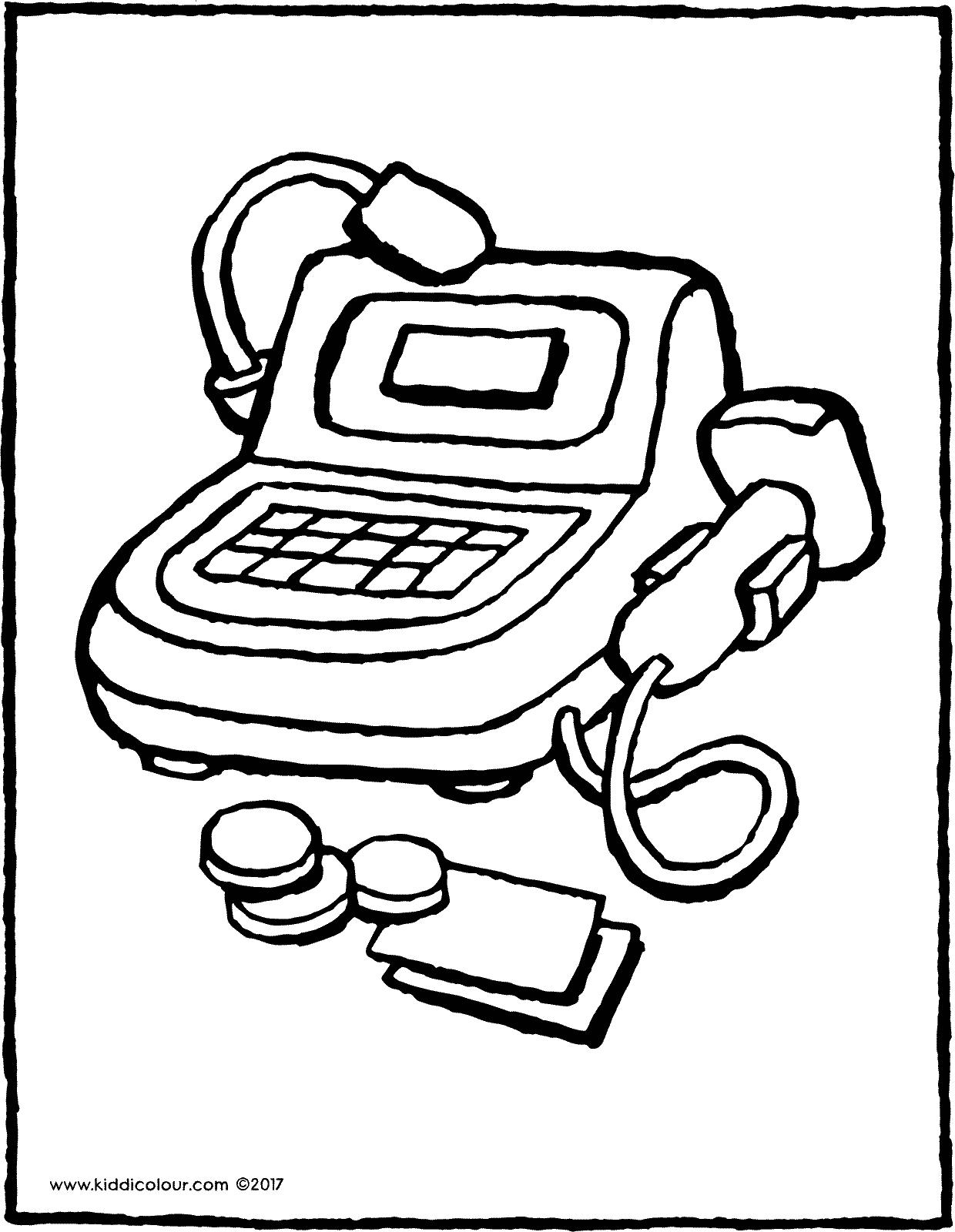 1240x1600 Toy Cash Register