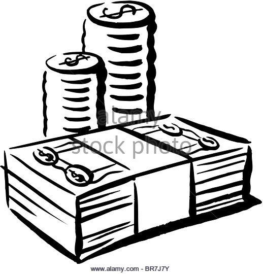 518x540 Cash Bundle Black And White Stock Photos Amp Images