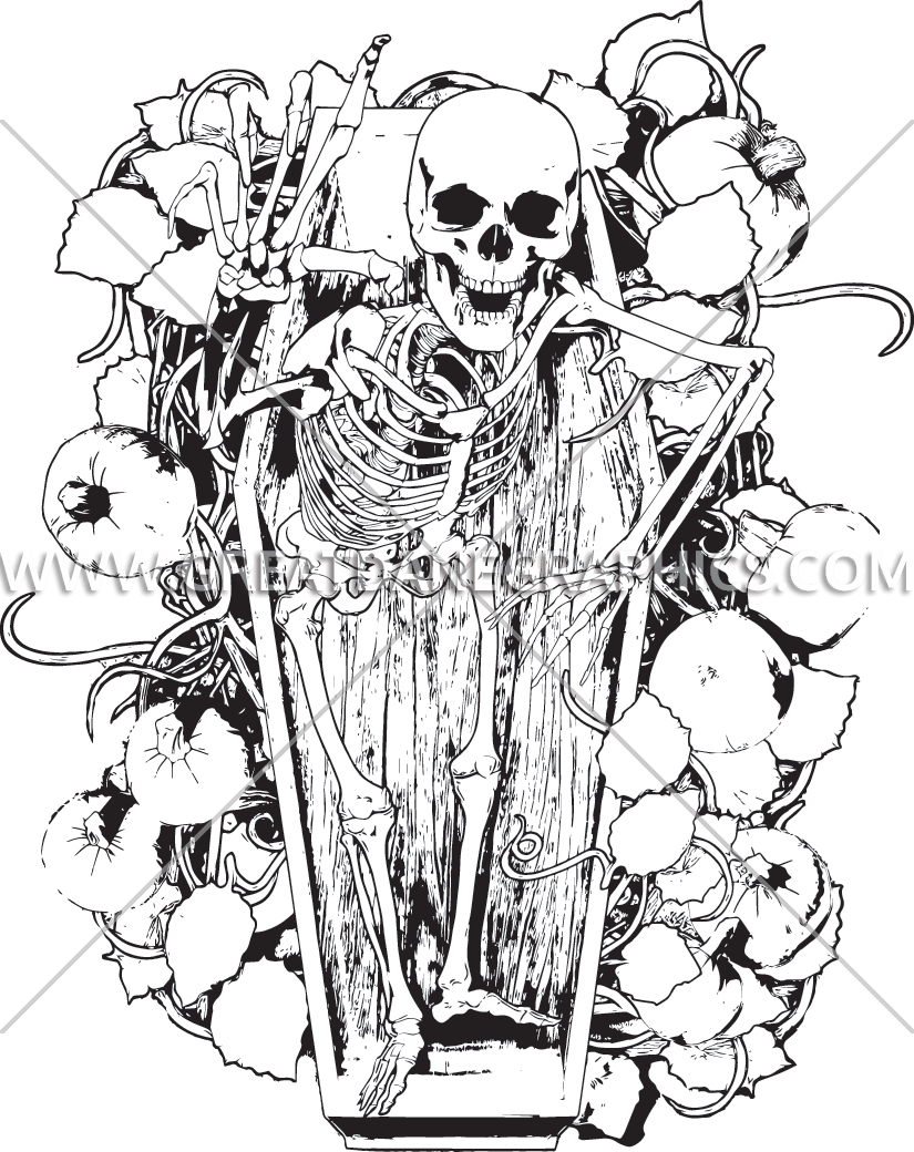 825x1040 Halloween Casket Pumpkin Patch Production Ready Artwork For T