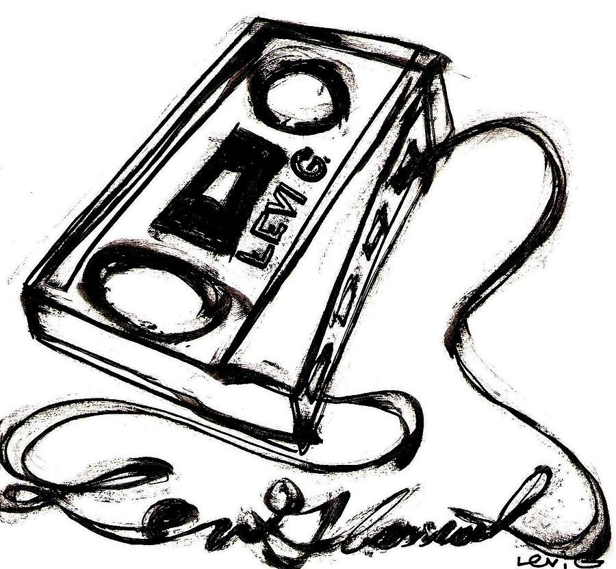 900x831 Cassette Unwound Into Levi Glassrock Drawing By Levi Glassrock