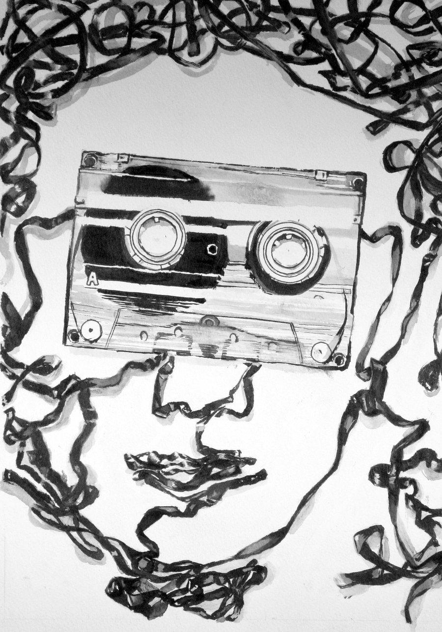900x1286 Cassette Tape Face By Emilyp123