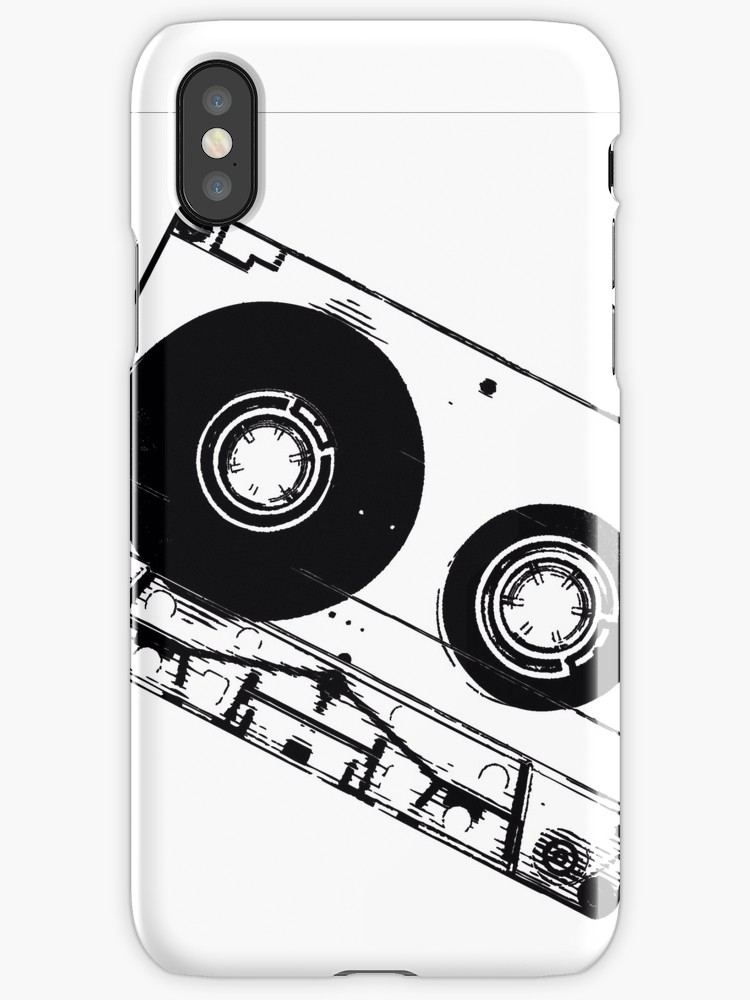 750x1000 Black Amp White Cassette Tape Iphone Cases Amp Skins By Mainstream901