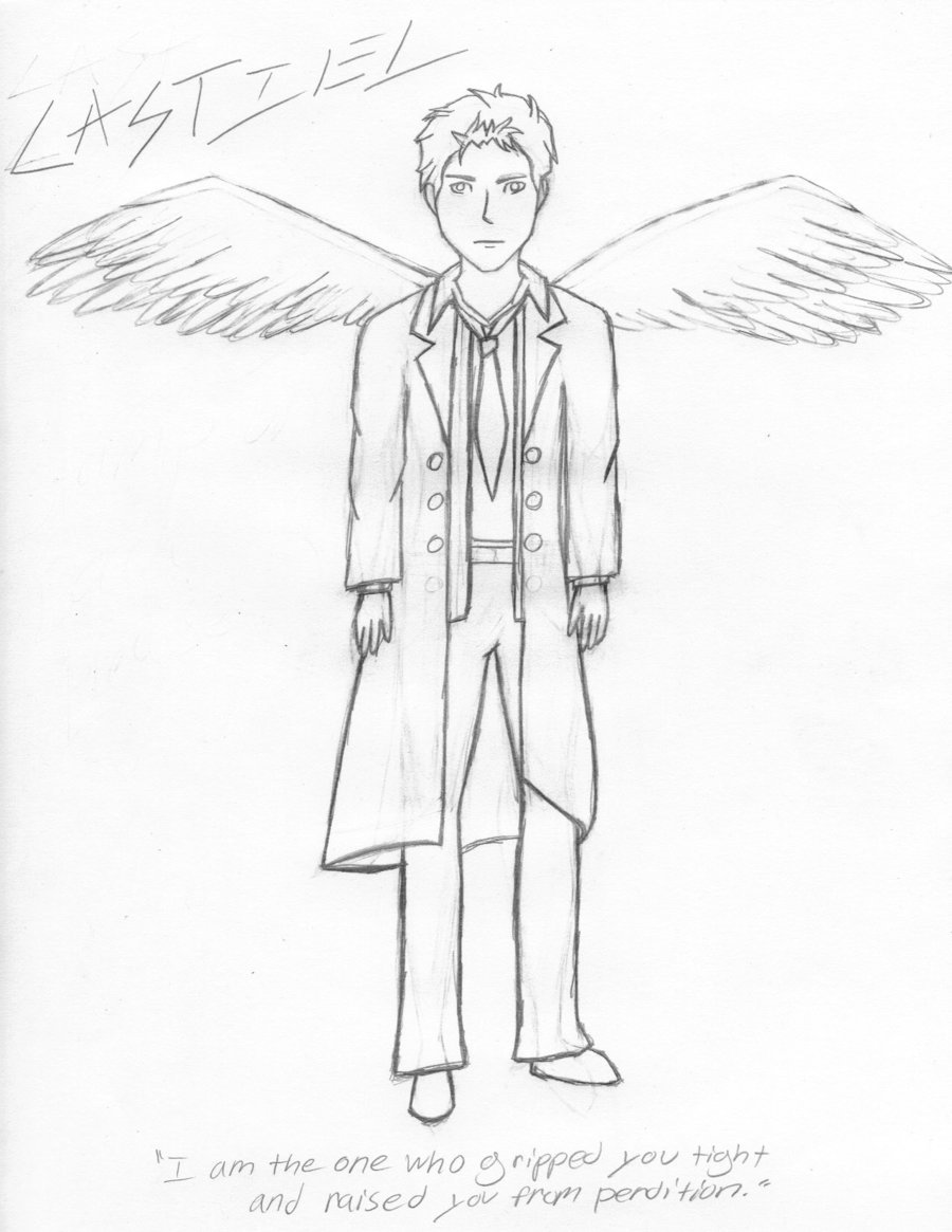 900x1165 Castiel Drawing By Secret Chronicler