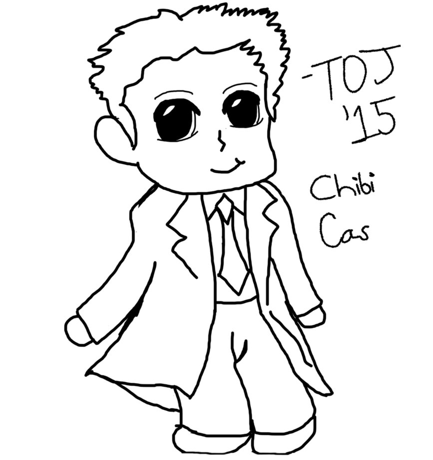 867x921 Chibi Castiel Sketch For Trade By Trulyoutrageousjem